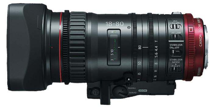 Canon cne 18 80 side